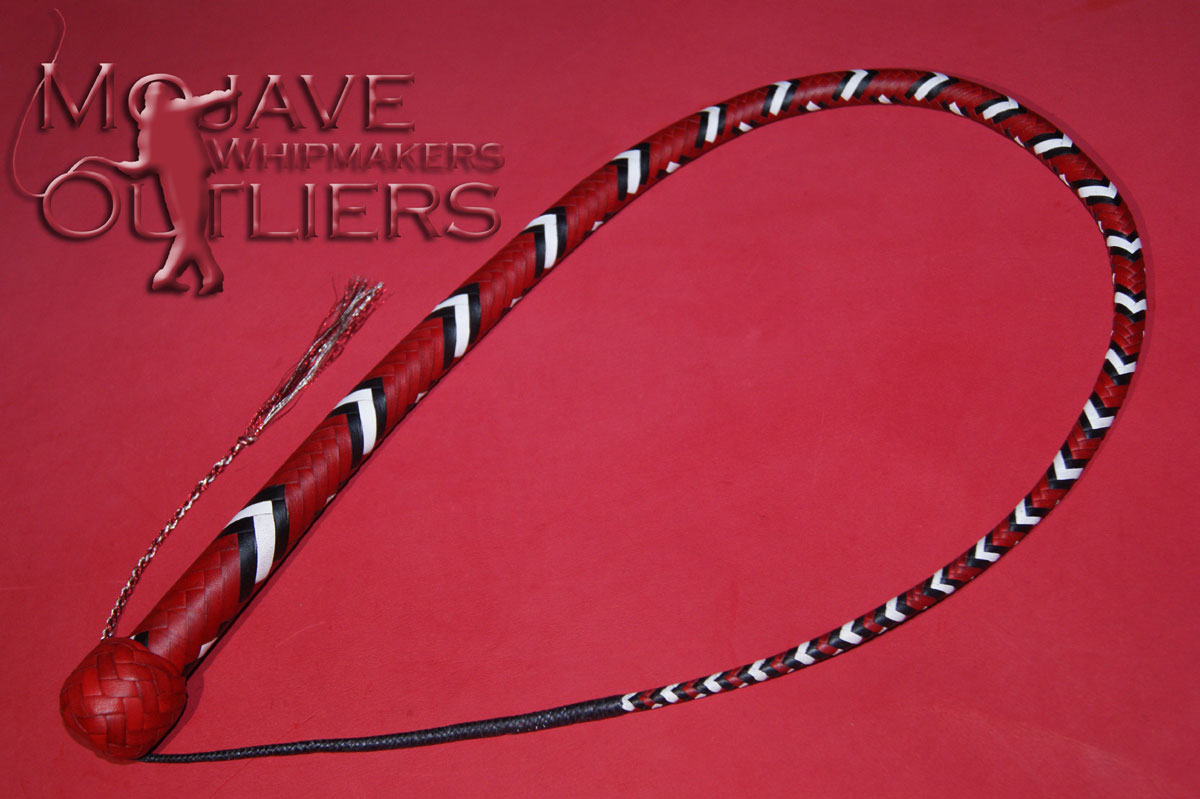 Mojave Outliers Whipmakers 3ft 16 plait MSK red black white