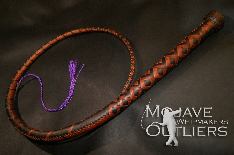 Mojave Outliers Whipmakers 4ft 16 plait signal whip spiral switched thong