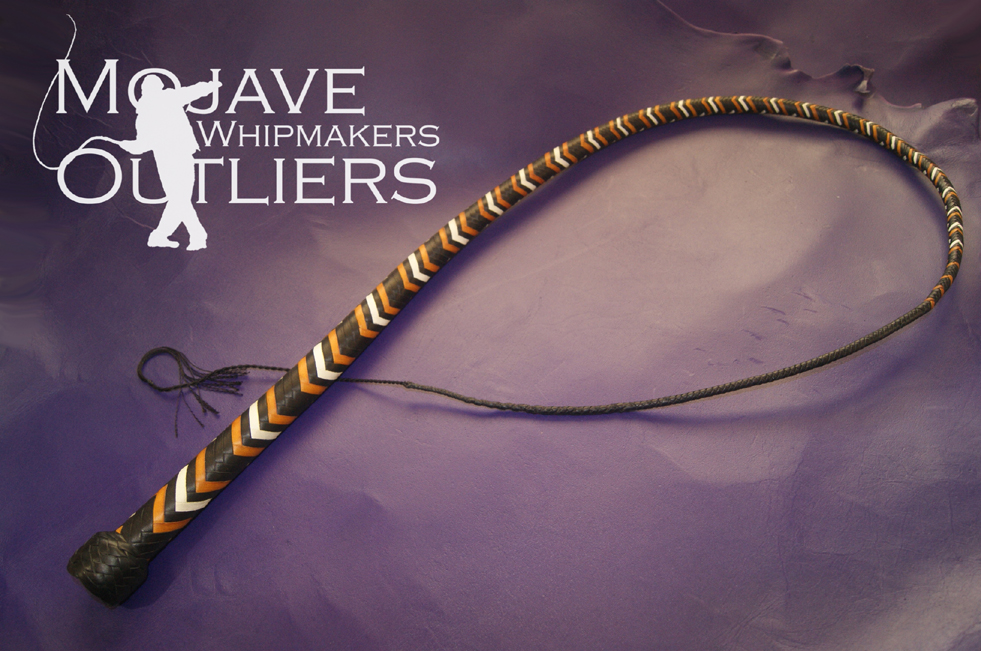 Mojave Outliers Whipmakers 4 ft 16 plait Bruins Hybrid Signal Whip KM