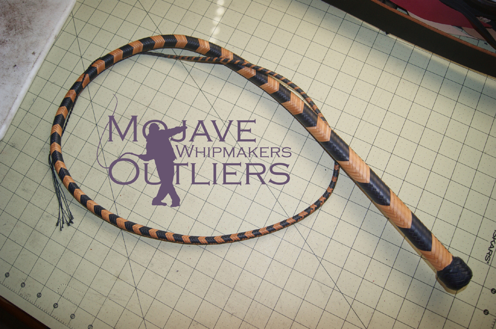 Mojave Outliers Whipmakers 5 ft 24 plait Navy Blue and Natural Hybrid Signal Whip DH