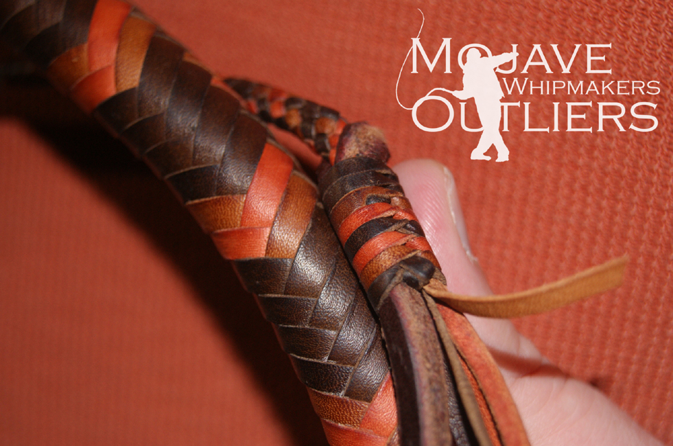 Mojave Outliers Whipmakers Budget Boudoir mini pocket snake whip roan detail