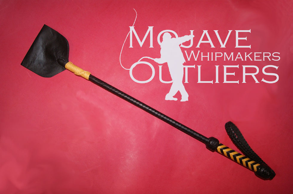 Mojave Outliers Whipmakers Black and Yellow Kangaroo leather Riding Crop