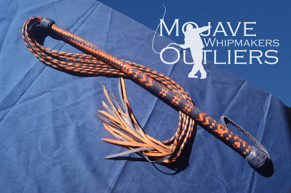 Mojave Outliers Whipmakers Blue and Roan Cat o nine tails