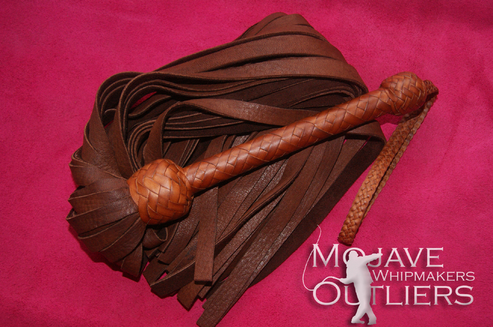 Mojave Outliers Whipmakers Chocolate Deerskin Flogger
