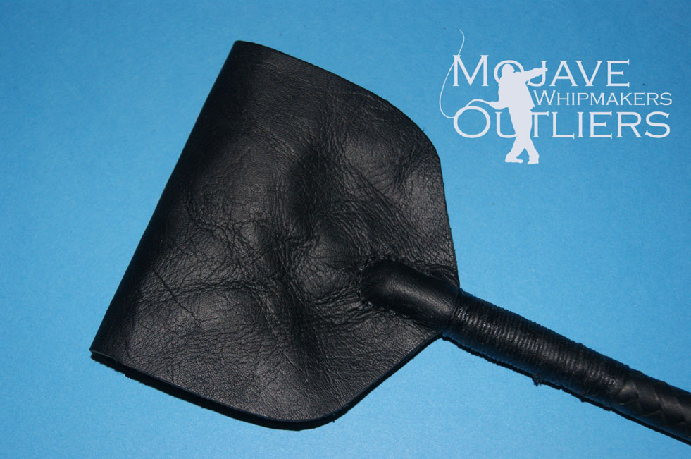 Mojave Outliers Whipmakers Black Riding Crop slapper hand stitching