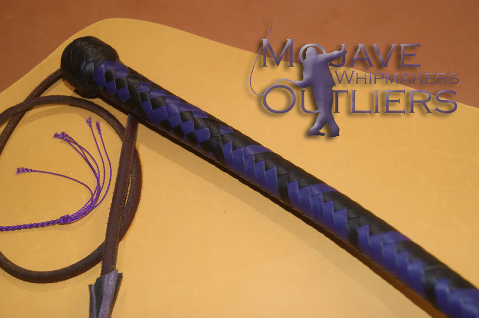 Mojave Outliers Whipmakers BB Black Purple long handle detail mini snake whip