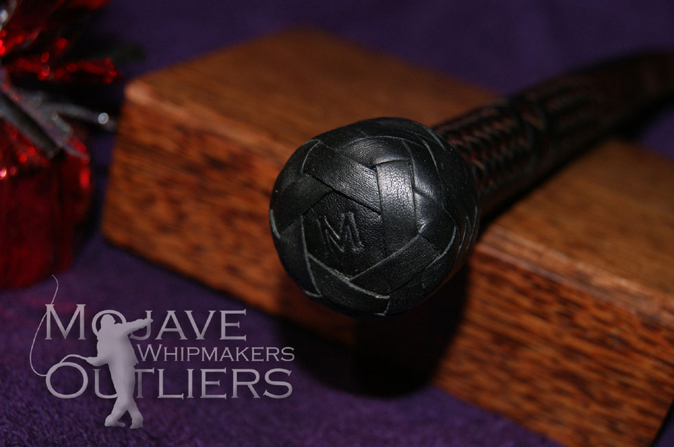"""...detail of the heel knot, showing the maker's mark, """"M"""" for Mojave Outliers!"""
