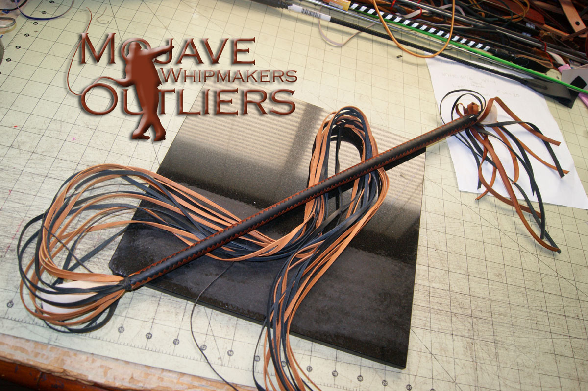 Mojave Outliers Whip Makers Kangaroo Leather Cat o'nine tails 01