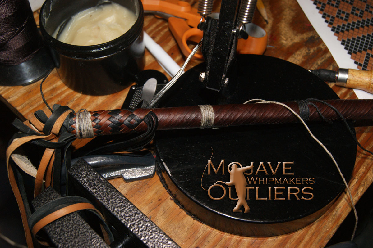 Mojave Outliers Whipmakers Kangaroo Leather Cat o'nine tails Spiral 1 043