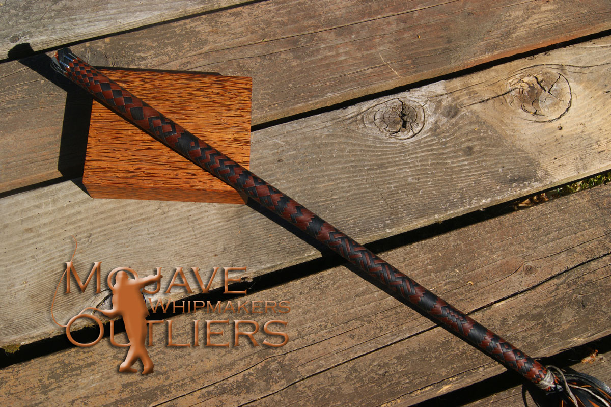 Mojave Outliers Whipmakers Kangaroo Leather Cat o'nine tails Finished Spiral Outside
