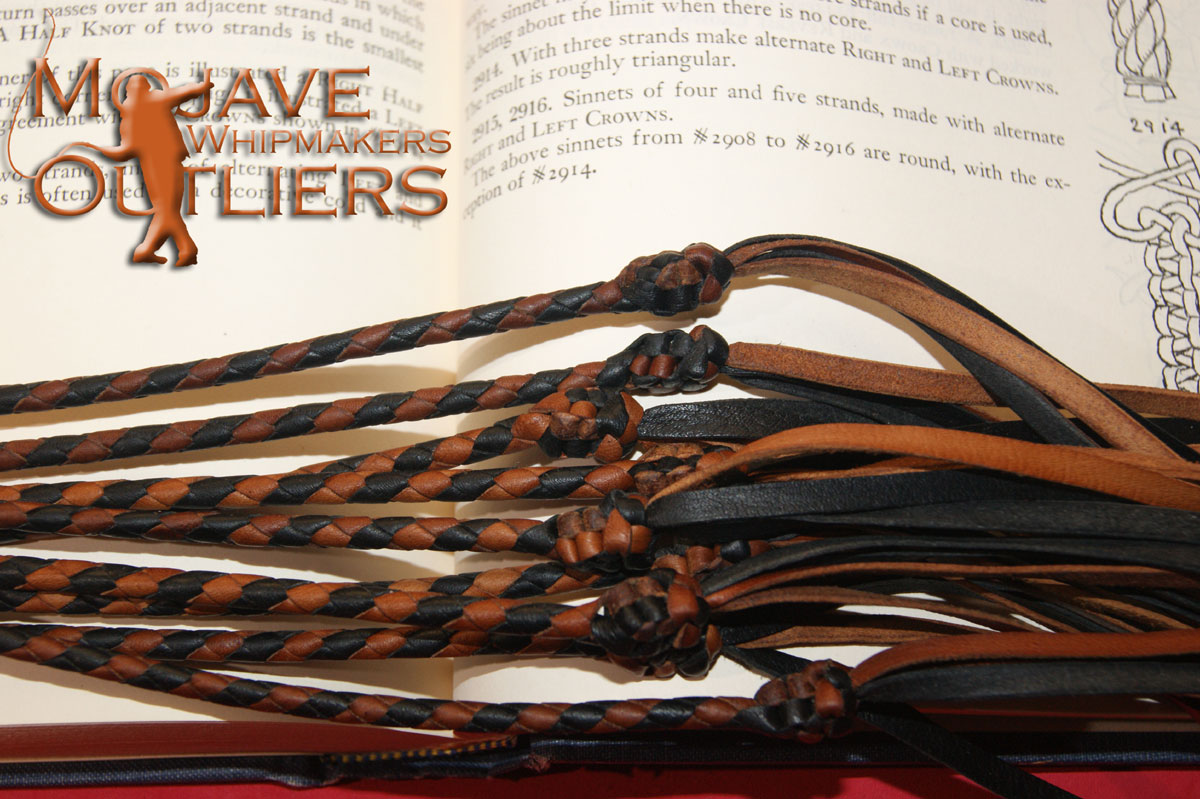 Mojave Outliers Whipmakers Kangaroo Leather Cat o'nine tails Sinnet Crowns