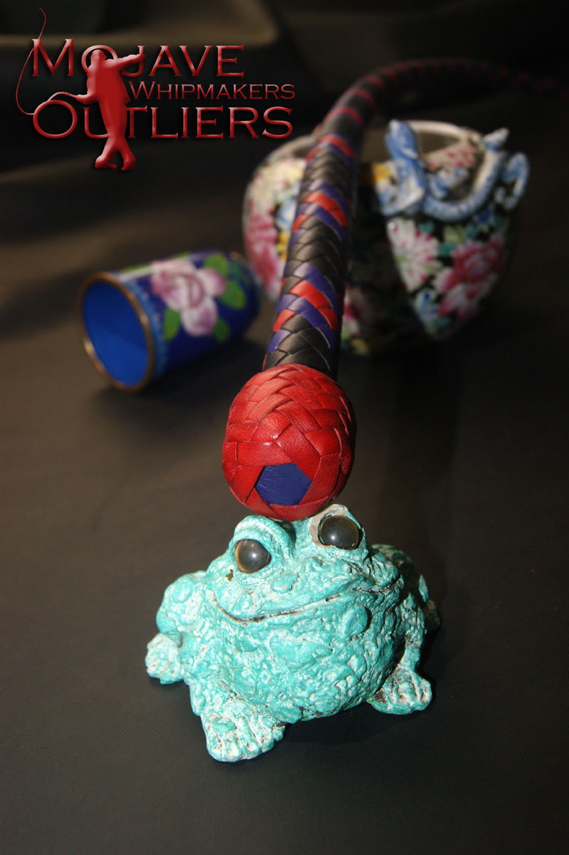 Haha! Detail of the red heel knot with purple bolster.  Sorry, Froggy stays with me!
