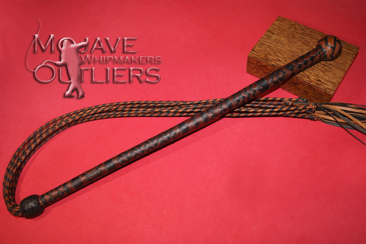 Mojave Outliers Whipmakers Kangaroo Leather Cat o'nine Tails Done!