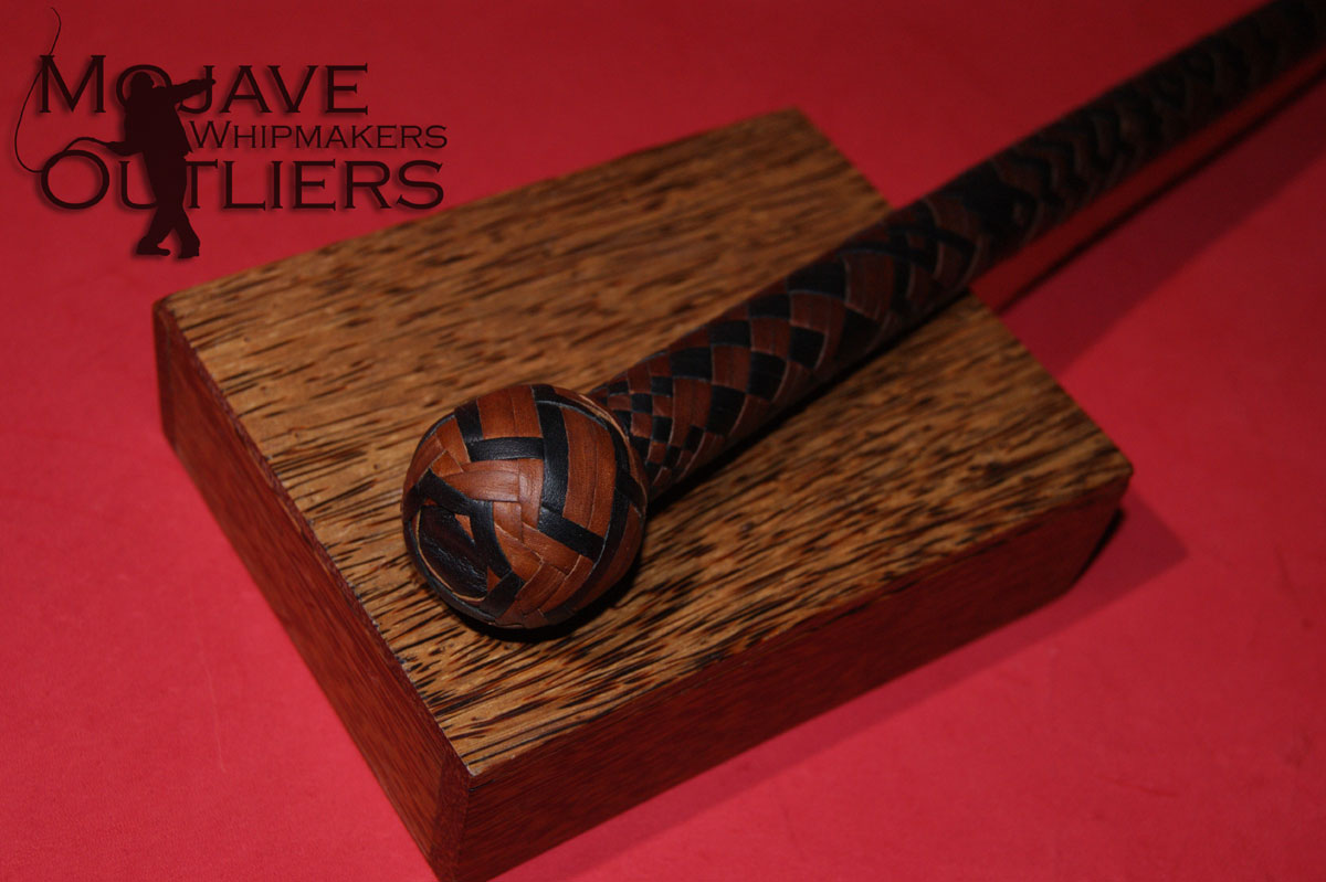 Mojave Outliers Whipmakers Kangaroo Leather Cat o'nine Tails Heel Knot