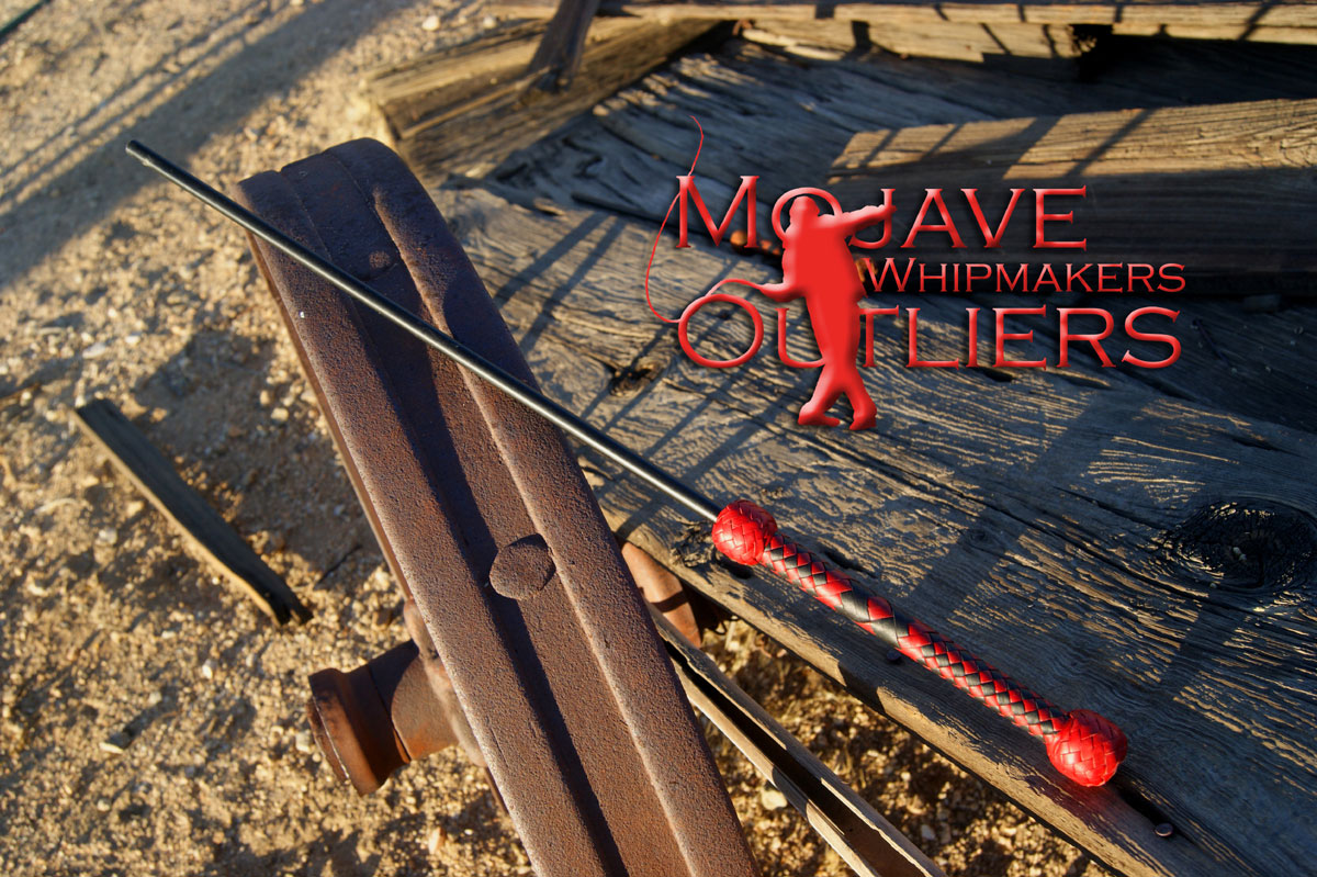 Mojave Outliers Whip Makers Delrin Cane Kawanga Stick Kangaroo Leather