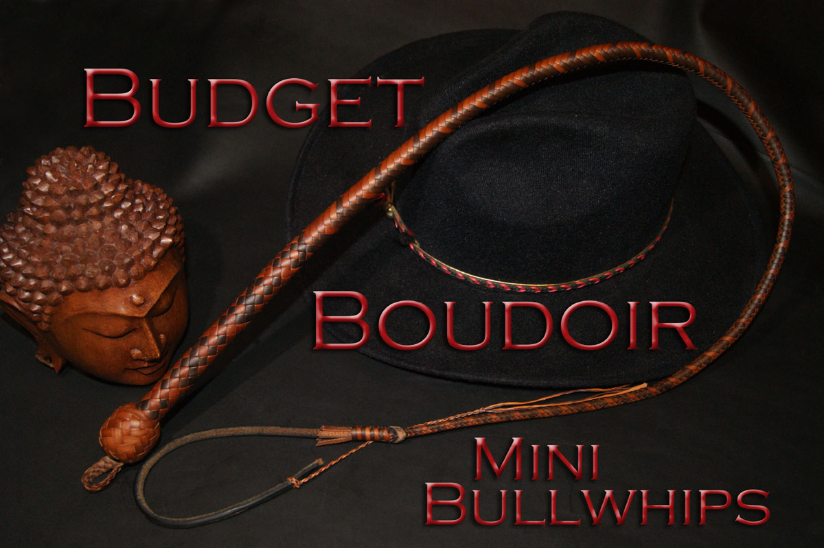 Budget Boudoir Kangaroo Leather Mini Bullwhips