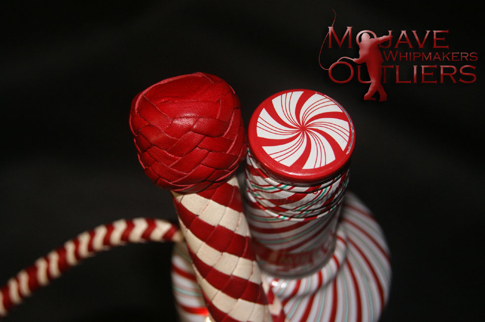Candy Cane BB mini bullwhip heel knot detail!