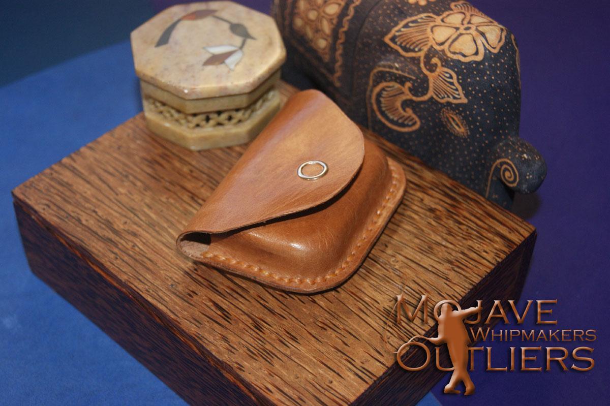 Saddle Tan Kangaroo Leather Cracker Box