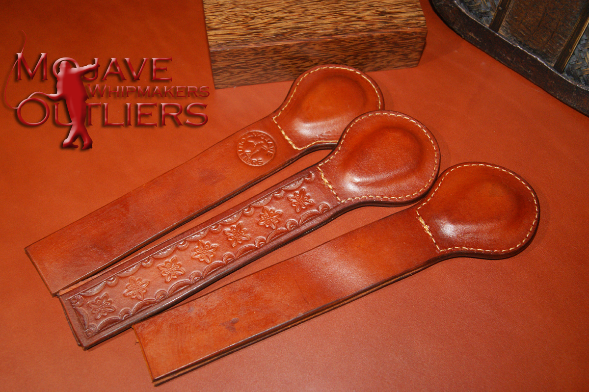 Pocket Paddles in Saddle Tan! The tooled Pocket Paddle already has a home, but if you'd like one like it, just send me an email and we'll get you sorted (tooled Pocket Paddles are $70 each plus shippng).