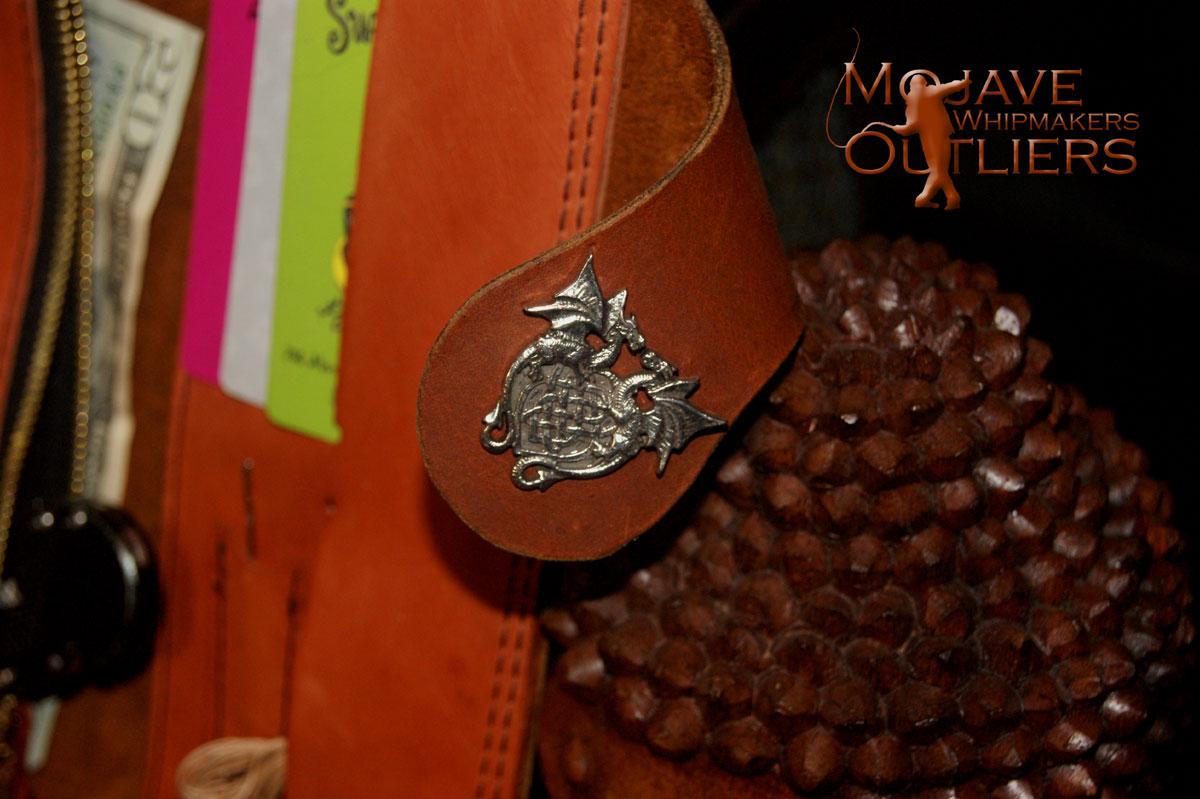 Close up of the Dragon Cherubim concho.